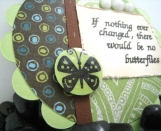 Butterfly Magnet Quote in Green