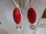 Red Swirls Earrings