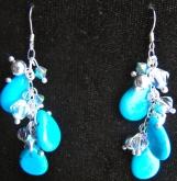 Turquoise Briolette Drop Earrings