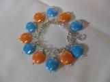 Children's Blue & Orange Charm Bracelet
