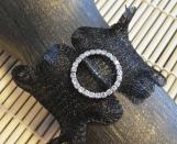 Bracelet- Wire Mesh Bracelet-  CIRCLE  Rhinestone accent