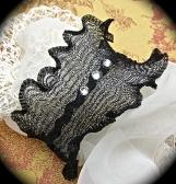 Bracelet-Black Wire mesh with rhinestones