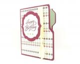 File Folder Birthday Card Gift Card Holder purple