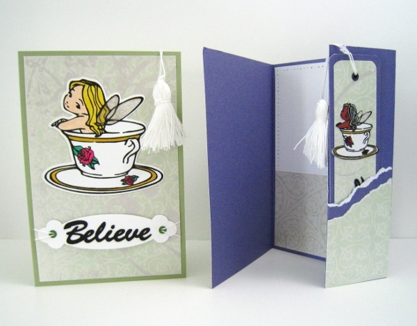 Bookmark Card - Teacup - Blonde - Handmade