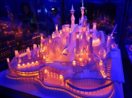 Stunning Paper Craft Castle On the Ocean
