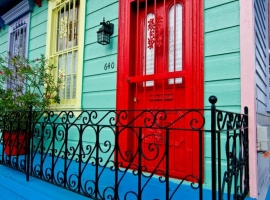 New Orleans, painted house.